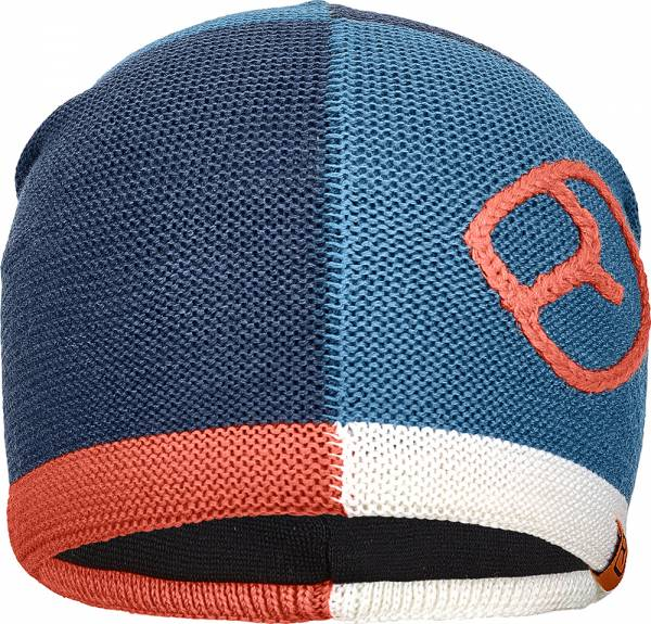 Ortovox Patchwork Beanie Mütze night blue