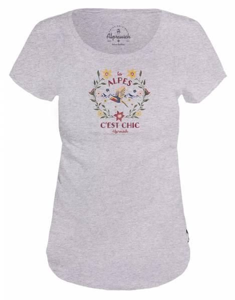 Alprausch C´est chic Damen T-Shirt grey melange