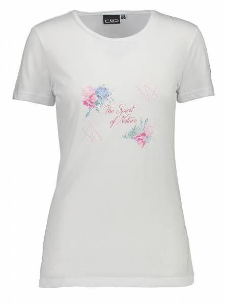 CMP Damen T-Shirt bianco mel.-geraneo (39T7536)