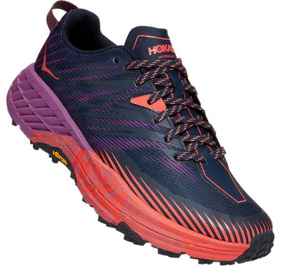 Hoka Speedgoat 4 Damen Trailrunningschuh outer space / hot coral