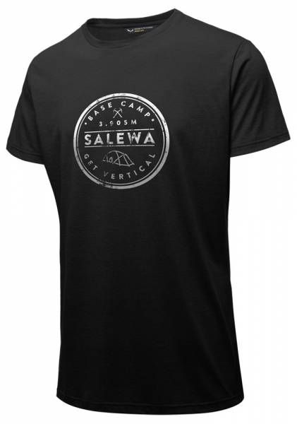 Salewa Base Camp Dri-Release S/S Tee Men Shirt gblack out melange