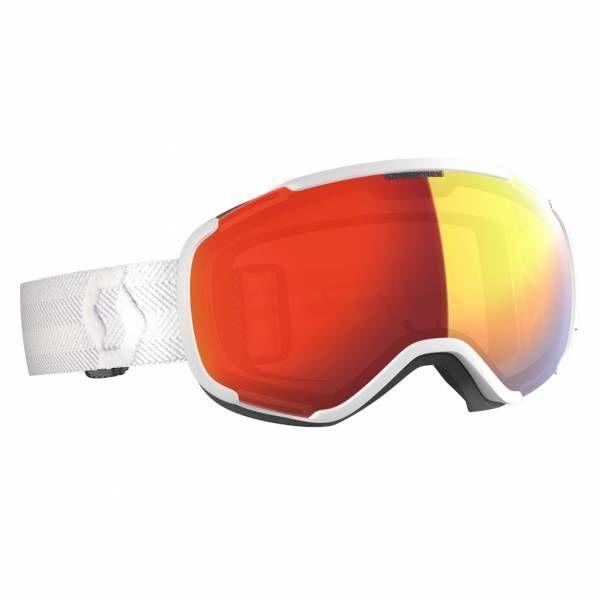 Scott Faze II Skibrille white enhancer red chrome