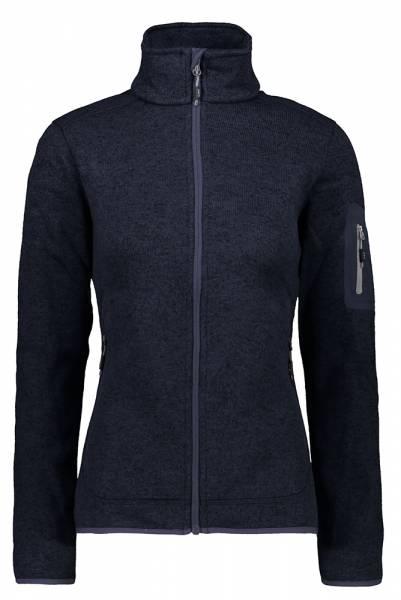 CMP Knitted Melange Fleece Damen Fleecejacke b.blue-grey (3H14746)
