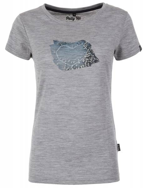 Pally´Hi Drone Heart Damen T-Shirt heather grey