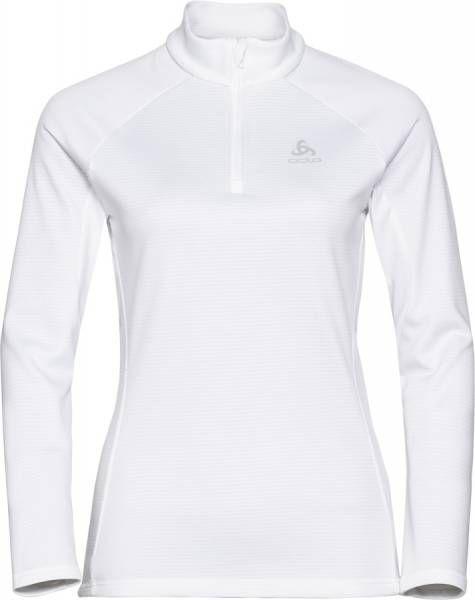 Odlo Proita Damen Midlayer 1/2 Zip white melange
