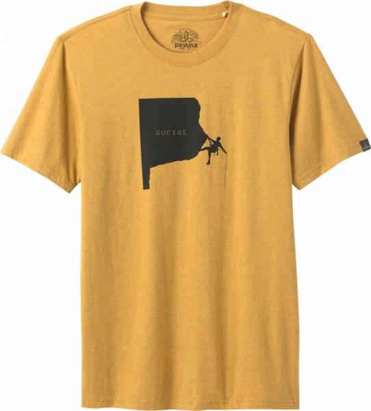 Prana Social Climber Journeyman Men T-Shirt marigold heather