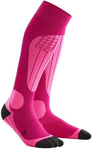 CEP Ski Thermo Compression Socks Women Skisocken pink/flash pink