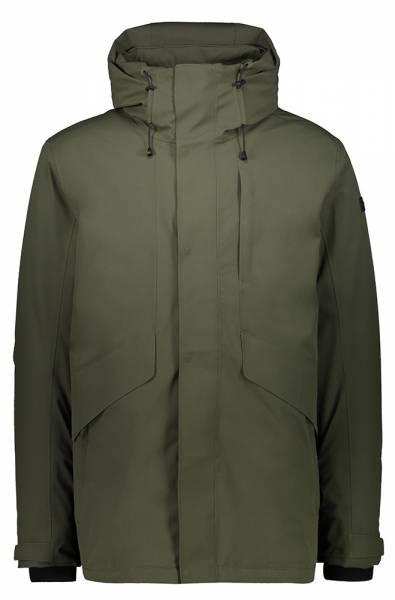 CMP Long Jacket Fix Hood Herren Hardshelljacke oil green
