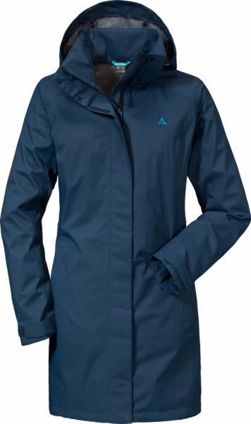 Schöffel Coat Easy L Women Regenmantel dress blues
