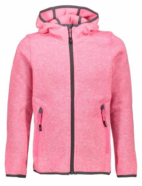 CMP Girl Jacket Fix Hood Kinder Fleecejacke pink fluo mel.-graffite (3H19825)