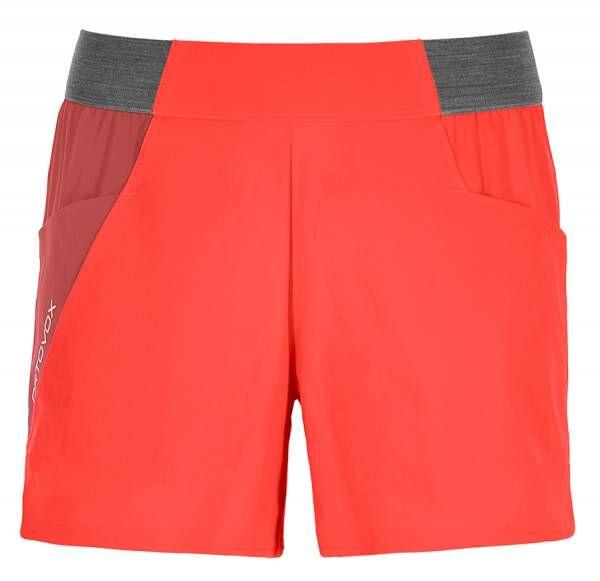 Ortovox Piz Selva Light Shorts Damen Bergshort coral