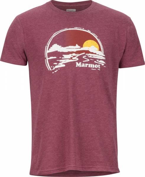 Marmot Weaver Tee SS Men T-Shirt burgundy heather