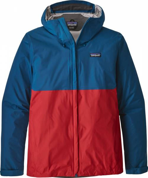Patagonia Torrentshell Jacket Men Jacke big sur blue w/fire red