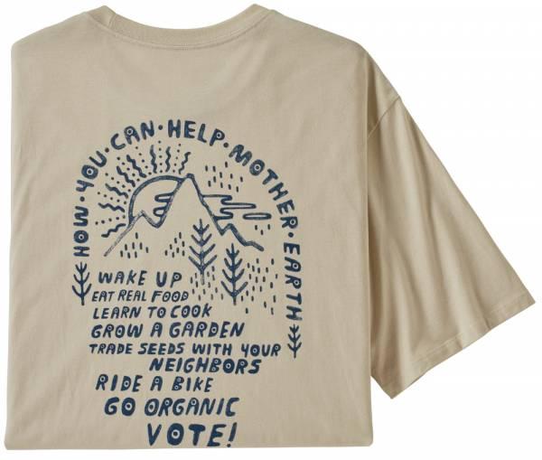 Patagonia How to Help Organic Men T-Shirt pumice
