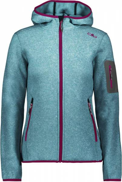cmp damen fleece jacke s.blue asphalt