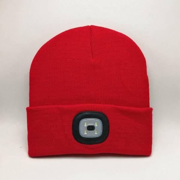 Artitec Headlight Mütze mit integrierter Stirnlampe rot