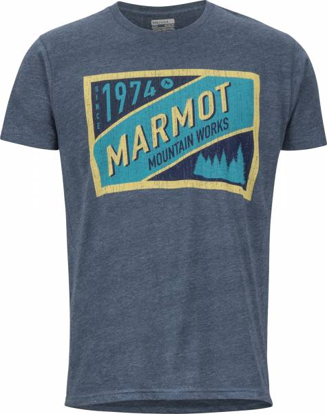 Marmot Mountain Tab Tee SS men T-Shirt navy heather