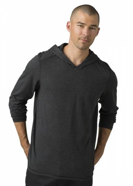 Prana Hooded T-Shirt Herren Langarm-Klettershirt black stripes