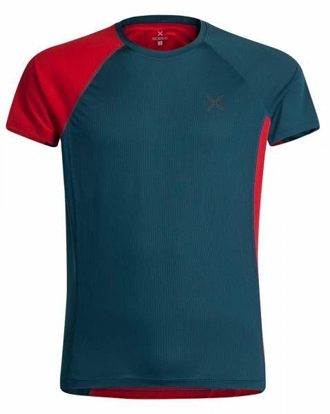 Montura World Mix T-Shirt Men Funktionsshirt blu cenere/rosso