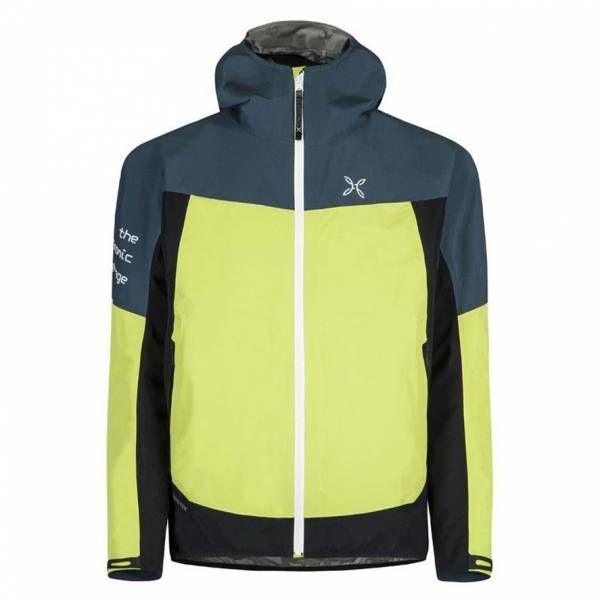 Montura Pac Mind Jacket Men Hardshelljacke verde lime/blu cenere