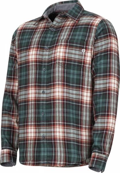 Marmot Fairfax Midweight Flannel LS Men Hemd mallard green