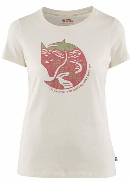 Fjällräven Artic Fox Print T-Shirt Women Chalk White