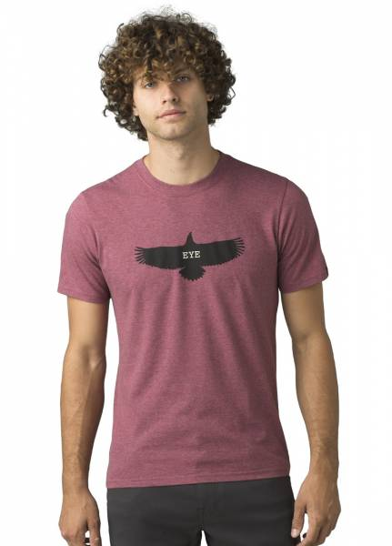 Prana Eagle Eye Journeyman Herren T-Shirt rosewood heather