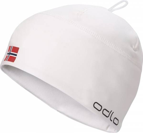 Odlo Hat Polyknit Fan Warm Mütze white - norwegian flag
