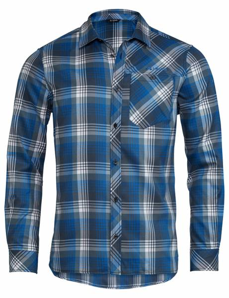 Vaude Neshan LS Shirt Herren Flanellhemd steelblue