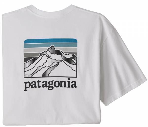 Patagonia Line Logo Ridge Pocket Responsibili-Tee Men T-Shirt white