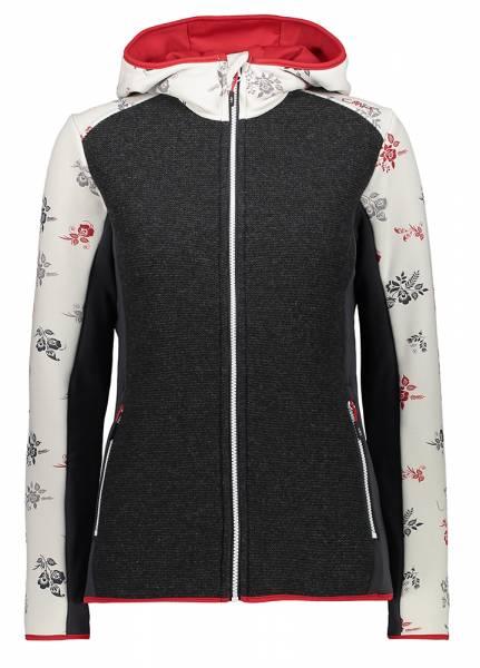 CMP Jacket Fix Hood Damen Midlayer gesso-blood (30M2056)