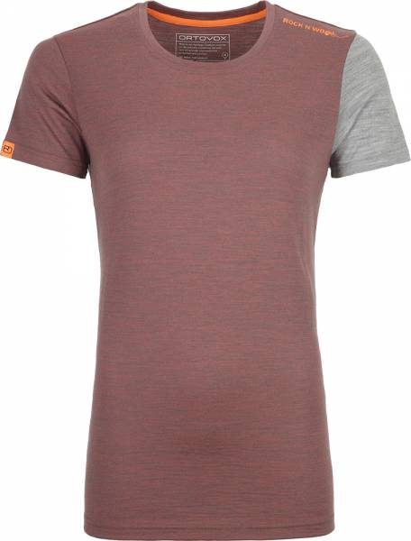 Ortovox 185 Rock´n´Wool Short Sleeve Women Shirt blush blend