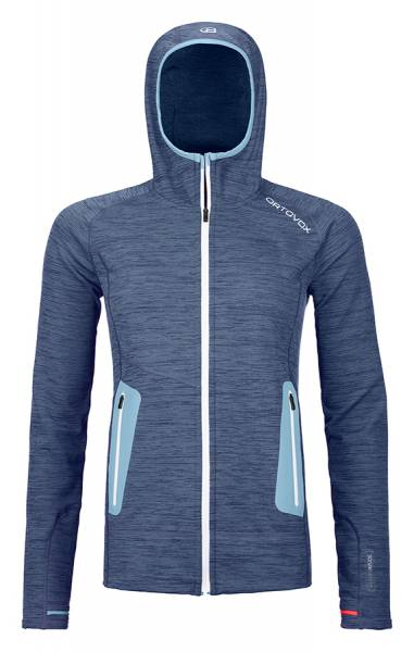 Ortovox Fleece Light Hoody Damen Midlayer night blue blend