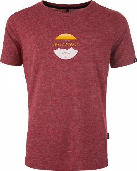 Pally´Hi Best Vibes Men T-Shirt cabernet