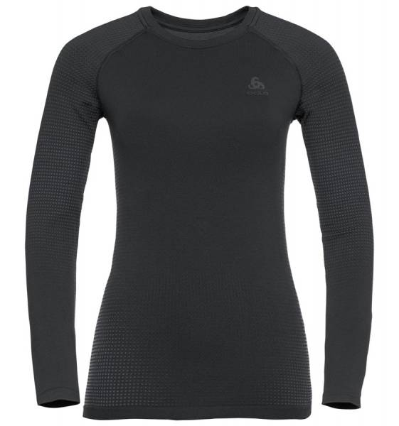 Odlo BL Top Crew neck l/s Performance Warm Eco Damen Funktionsunterwäsche black - new oldo grey