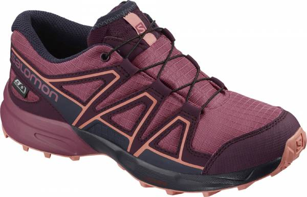 Salomon Speedcross CSWP Junior malaga/potent purple/desert flower Bergschuhe