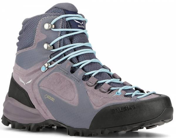 Salewa Alpenviolet GTX MID Women Wanderschuh Grisaille/Ethernal Blue