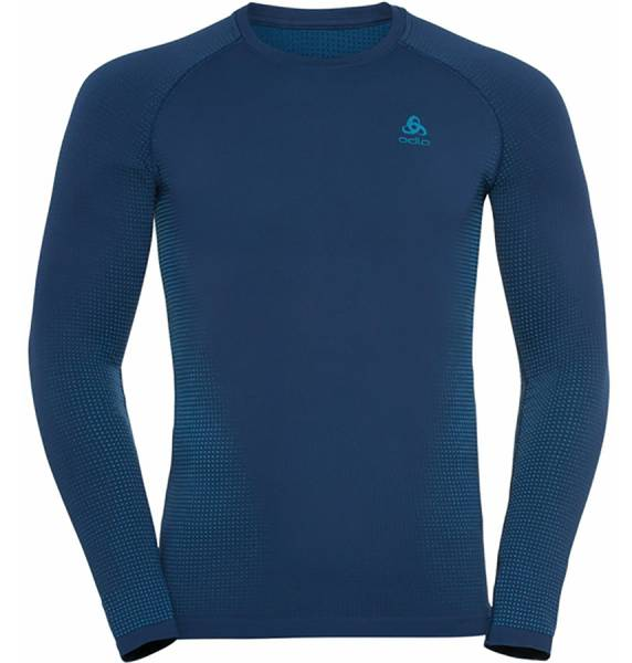 Odlo BL Top Crew neck l/s Performance Warm Eco Herren Funktionsunterwäsche estate blue - atomic blue