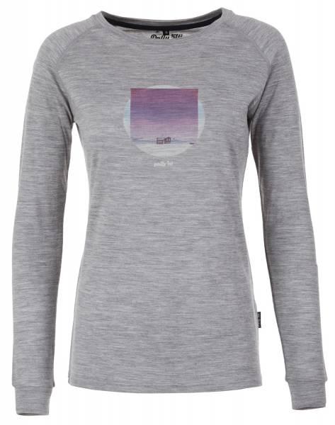 Pally´Hi Caleidoscoop Longsleeve Damen Langarmshirt heather grey