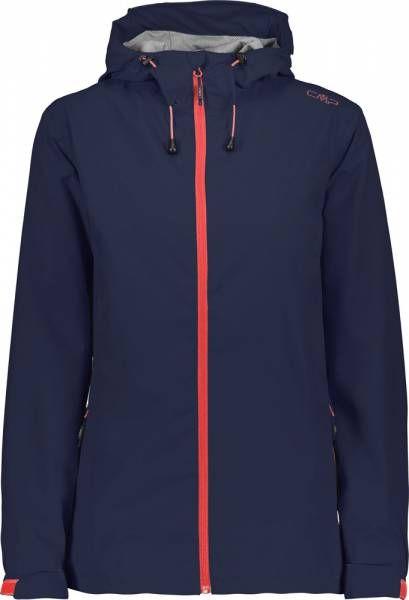 CMP Woman Rain Jacket Fix Hood black blue (39X6636)