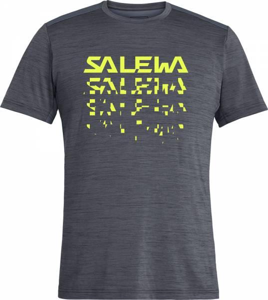 Salewa Puez Hybrid 2 Dry S/S Tee Men T-Shirt ombre blue melange