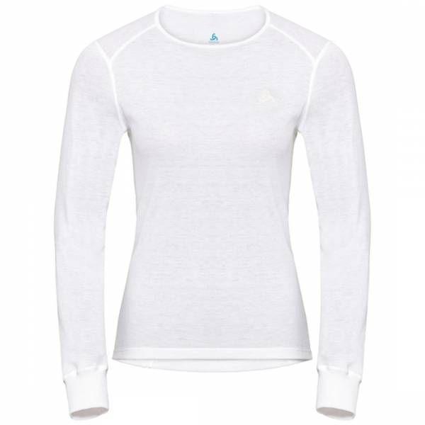 Odlo BL Top crew neck l/s active warm langarm Damen Funktionsunterwäsche white