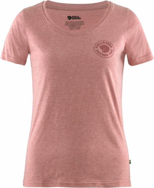 Fjällräven Logo T-Shirt Women raspberry red-melange
