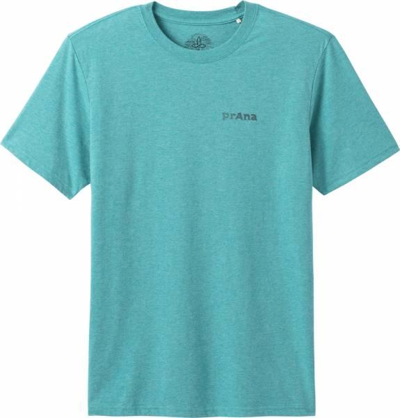 Prana Trail Elements Men T-Shirt azurite heather