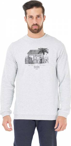 Picture Club Crew Men Pullover light grey