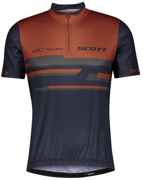 Scott RC Team 20 Herren Kurzarmtrikot rust red/midnight blue