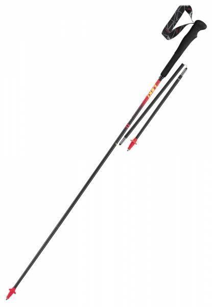 Leki Micro RCM Superlight carbon-red-grey-white-yellow Bergstock