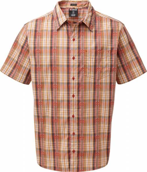 Sherpa Seti Shirt Men Kurzarm-Hemd Teej Orange