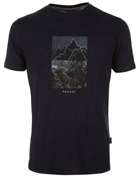 Pally´Hi Scribble Peak Herren T-Shirt bluek