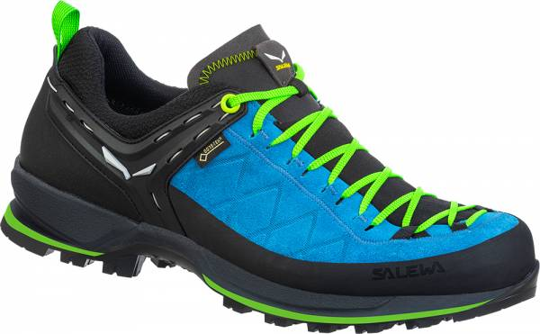 Salewa MTN Trainer 2 GTX Herren Wanderschuh blue danube/fluo green